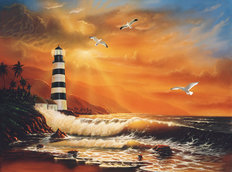 Majestic Lighthouse Wall Mural