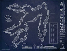 Mammoth Dunes Blueprint Mural Wallpaper