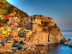 Manarola - Sunset Harbor Wall Mural