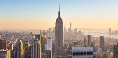 Manhattan Downtown Skyline Wallpaper Mural