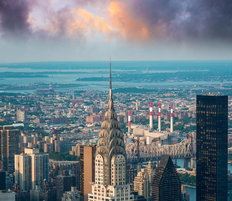 Manhattan Skyline Mural Wallpaper