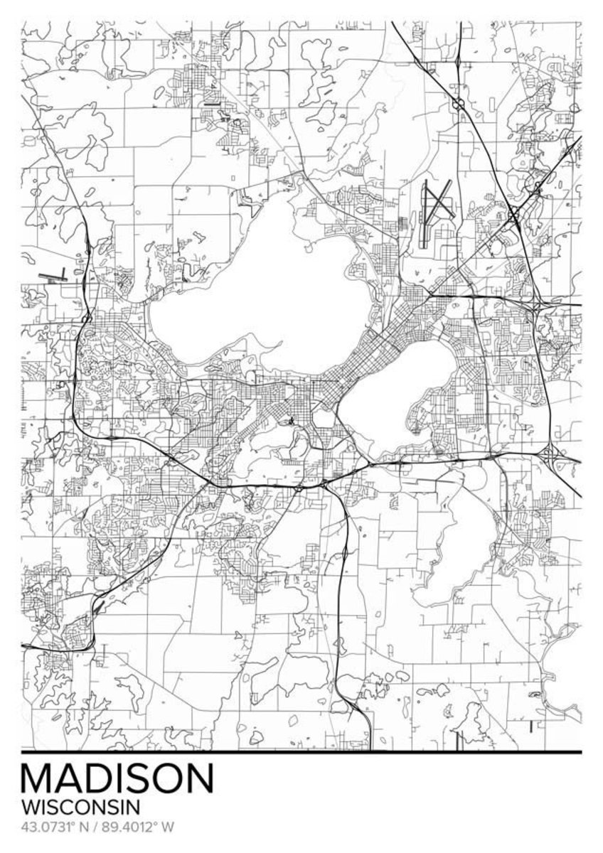 Map Of Madison, WI