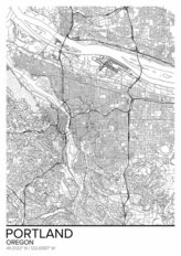 Map Of Portland Oregon Wallpaper Mural