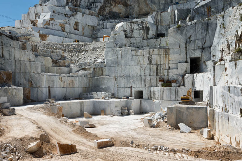 Marble Quarry Site in Apuan Alps Carrara Tuscany Italy Mural Wallpaper