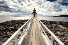 Marshall Point Lighthouse Mural Wallpaper
