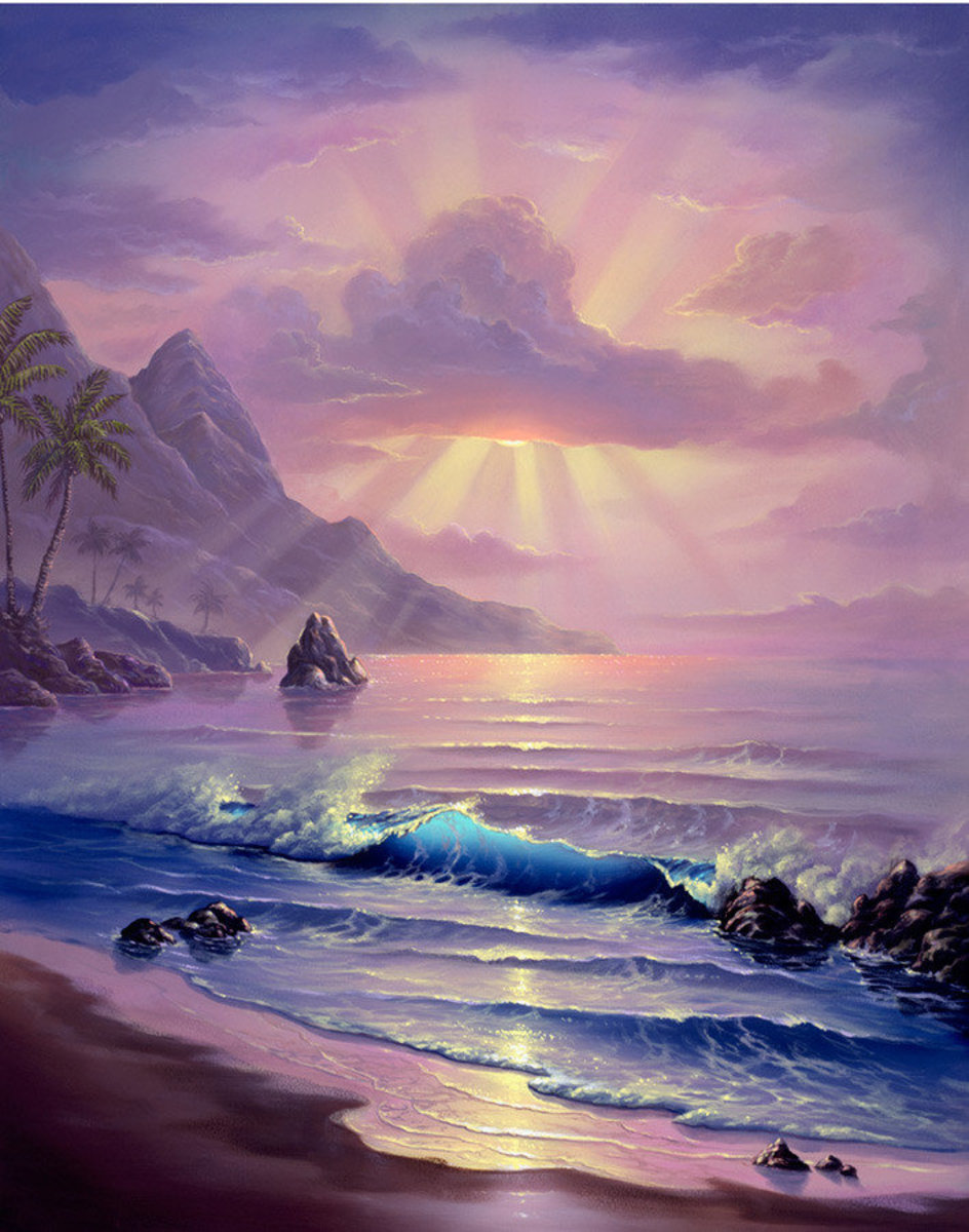 Maui Sunrise Wall Mural