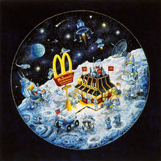 McDonald's In Space Mural Wallpaper