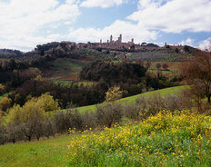 Medieval Town In San Gimignano, Italy Mural Wallpaper