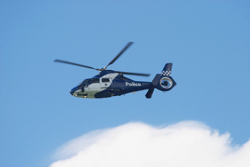 Melbourne Police Helicopter Mural Wallpaper