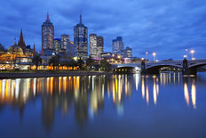 Melbourne Skyline Wallpaper Mural
