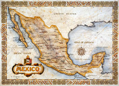 Mexico (One Treasure Limited) Wall Mural