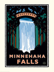 Minnehaha Falls Wallpaper Mural