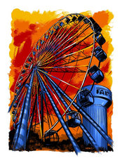 Minnesota State Fair Ferris Wheel Wall Mural