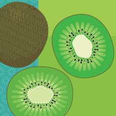 Modern Fruits & Veggies - Kiwi Wall Mural
