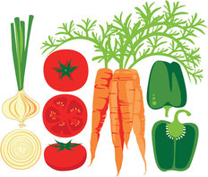 Modern Veggies - White Wallpaper Mural