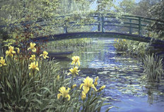 Monet's Bridge Wall Mural