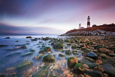 Montauk Point Sunset Mural Wallpaper