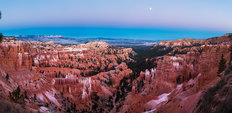 Moon Over Bryce Canyon Wall Mural