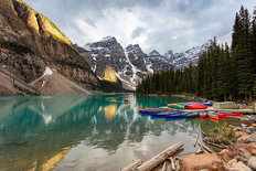 Moraine Lake Colors Mural Wallpaper