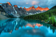 Moraine Lake Sunrise Mural Wallpaper