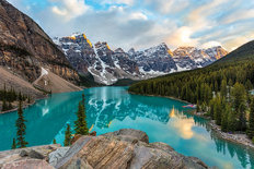 Moraine Lake Valley of the Ten Peaks  Wallpaper Mural