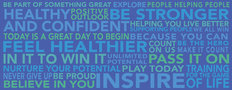 Motivational Word Cloud Wall Mural