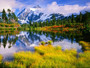 Mount Shuksan & Picture Lake, Washington Wall Mural