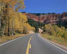 Mountain Highway in Autumn Wall Mural