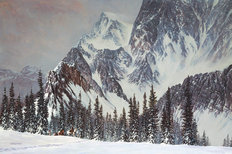 Mountain Rendezvous Mural Wallpaper