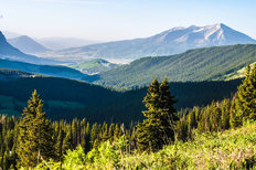 Mountain Vista From Mt Baldy Wallpaper Mural