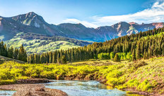 Mountain Vista With Slate River Near Crested Butte Colorado  Wall Mural