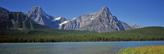 Mountains And The Bow River Wall Mural