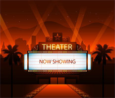 Movie Theater Now Showing Wall Mural
