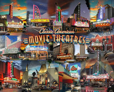 Movie Theatre Collage Wall Mural
