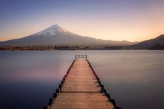 Mt Fuji From The Pier Wall Mural