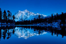 Mt Shuksan Reflected in Picture Lake Wallpaper Mural