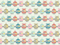 Multi-color Robots Pattern Wall Mural