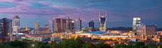 Nashville Skyline Panorama Wallpaper Mural
