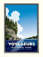 National Parks Voyageurs Fishing Mural Wallpaper