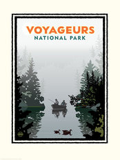 National Parks Voyageurs Misty Lake Mural Wallpaper