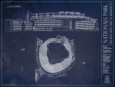 Nationals Park Blueprint Wall Mural