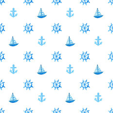 Nautical Pattern II Wallpaper