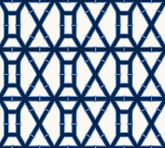 Navy Bamboo Patter Mural Wallpaper