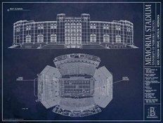 Nebraska Memorial Blueprint Wall Mural