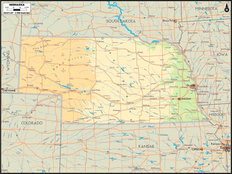 Nebraska Map Wall Mural