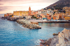 Nervi Village Mural Wallpaper