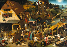 Netherlandish Proverbs Mural Wallpaper