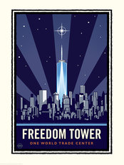 New York City Freedom Tower Mural Wallpaper