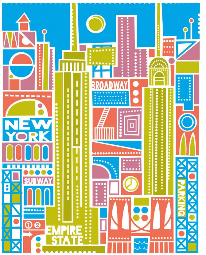 New York City - Gold Wall Mural