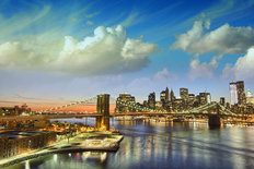 New York City Manhattan Skyline Mural Wallpaper